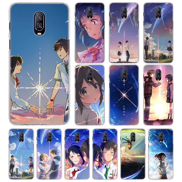 the best attitude 6e279 24710 Japanese Anime Your Name Phone Case For OnePlus 6 5T 6T Hard PC Back Case  For Oneplus 6T 6 Mobile Phone Bag Case