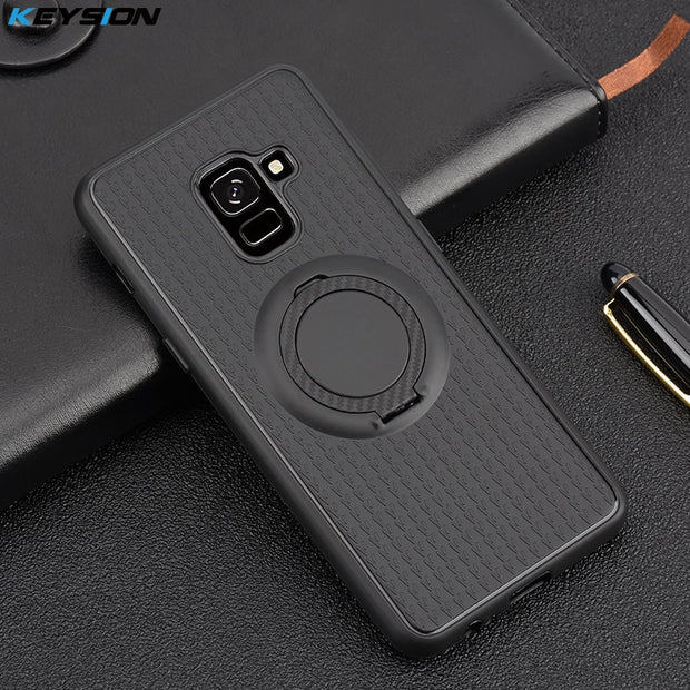 timeless design e6897 b2aa7 KEYSION Case For Samsung Galaxy A8(2018) Car Magnetic Suction ...