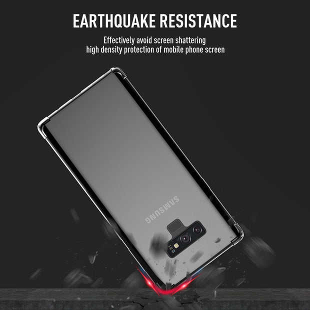 KEYSION Phone Case For Samsung Galaxy Note 9 8 S9 S8 Plus Transparent Soft TPU Silicone Anti-knock Back Cover For S8+ S9+ S9Plus