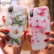 KISSCASE 3D Relief Phone Case For IPhone 5 5S SE Soft Silicone Cover For IPhone X XS XR XS Max For IPhone 7 8 Plus 6 S 6 Fundas