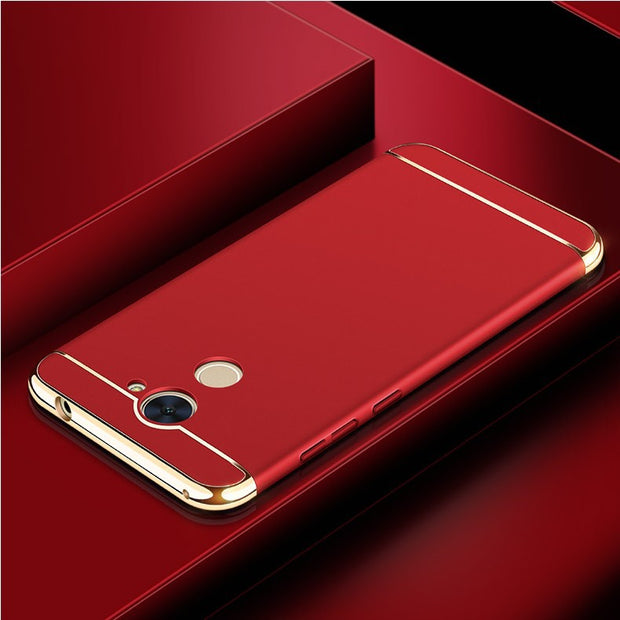 KIYLCZXYCM Luxury Metal Plating Frame Hard Protective Case On For Huawei Honor 6C 6c/enjoy 6s/enjoy 7Plus Phone Case Cover Coque
