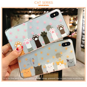 KOMYTOO TPU Ultra Slim Case For IPhone 6 6s 7 8 Plus Shockproof Cute Animal Pattern Silicone Clear Soft Cover Case For IPhone X
