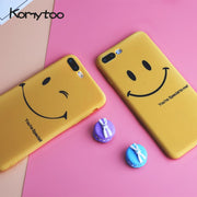 KOMYTOO TPU Ultra Slim Case For IPhone X 7 8 6 Plus Matte Cute Lovely Cartoon Pattern Soft Coque Cover Case For IPhone 6 6s 7 8