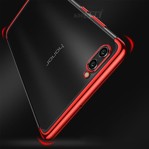 KOOSUK For Huawei P Smart Case Plating TPU Case Ultra Thin Transparent Silicone Phone Cover For Huawei Enjoy 7S Protective Case