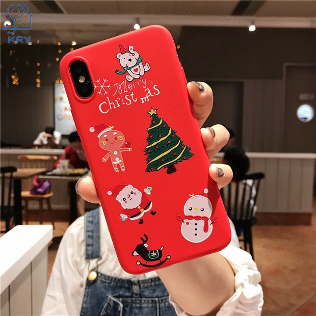 KRY Funny Cartoon Phone Case For Iphone X Case Dancing Cat Middle