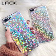 LACK Shiny Laser Light Phone Case For Iphone X Case For Iphone 6 6S 7 8 Plus Cover Fashion Colorful Geometry Pattern Cases Capa