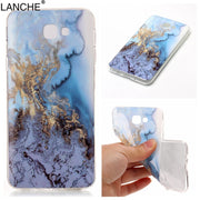 LANCHE Phone Case For Samsung Galaxy J5 J7 Prime Soft TPU Cellphone Marble Pattern Design Cover For Samsung ON5 ON7 2016 G5700