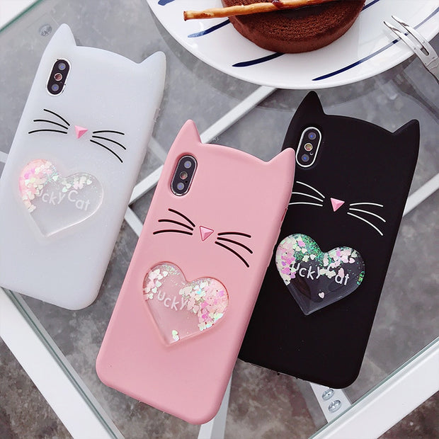 Lovely Carton Case For Huawei P Smart Y7 Prime 2018 Y7 2018 Y9 2018 Y7 Prime 2017 Cover Silicon Liquid Back Cover Funda