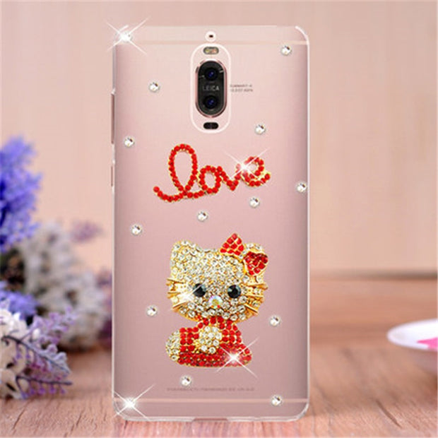 Luxury 3D Bling Crystal DIY Diamond Case For Huawei Acsend Mate 9 10 Lite Mate S 7 8 9 10 Pro Rhinestone Phone Back Cover