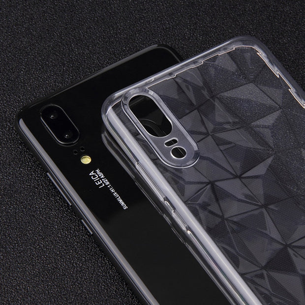 Luxury 3D Diamond TPU Coque For Huawei Mate 10 20 Pro P8 P9 P10 P20 Lite Nova 3 3i Clear Cover For Honor 8X 9 Lite View 10 Case