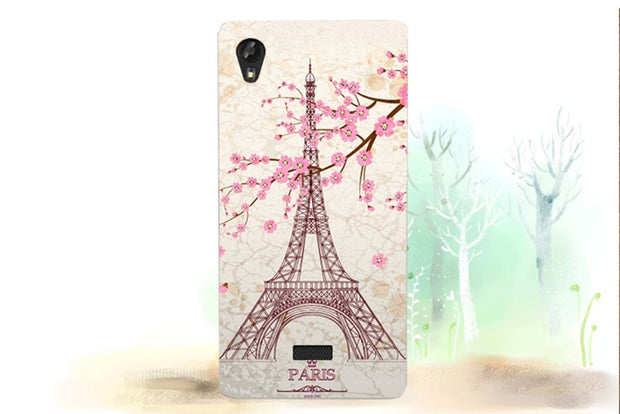 "Luxury 8 Patterns Painting Colored Deer Eiffel Towers Superman Flowers Soft Tpu Case Cover For Fly FS502 Cirrus 1 5.0"" Cases Bag"