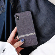 Luxury Bling Phone Case For IPhone 6 6S 7 8 Plus X XS MAX XR Chic Glitter Hard PC Jewelled Phone Back Cover Fashion Fitted Cases