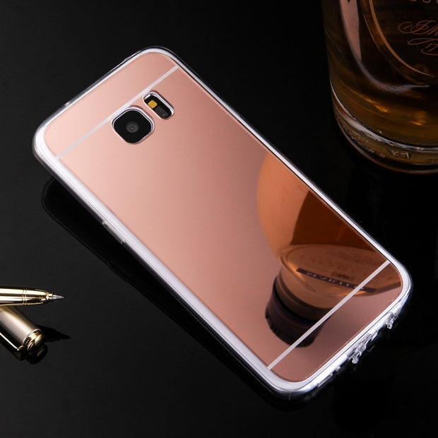 Luxury Cover For Samsung Galaxy S5 S4 S3 Case Mirror TPU Back Phone Cover For Samsung Galaxy S7 S6 Edge Plus Accessories Celular