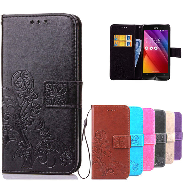 Luxury Flower Printing Wallet Leather Cover For ASUS ZenFone 2 Laser ZE500KL Phone Bag Case Flip Cover For ASUS ZE500KL ZE500KG