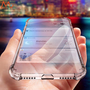 Luxury For IPhone XS Max Case Shockproof Ultra Thin Transparent Soft Silicone Phone Case For IPhone XS Max XR Cover Coque Clear