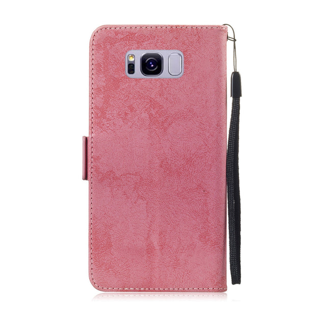 san francisco 77d27 8da1f Luxury Frosted Leather Cover For Samsung S7 S7edge S8 S9 Plus Note9 ...