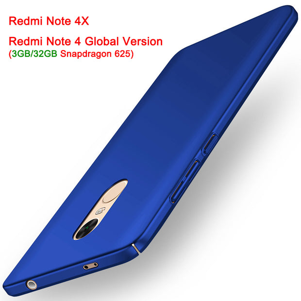 Luxury Hard Plastic Bag Cases For Xiaomi Redmi Note 4X 4 Pro Full Body Slim Back Cover For Redmi Note4 Global Version 5.5inch