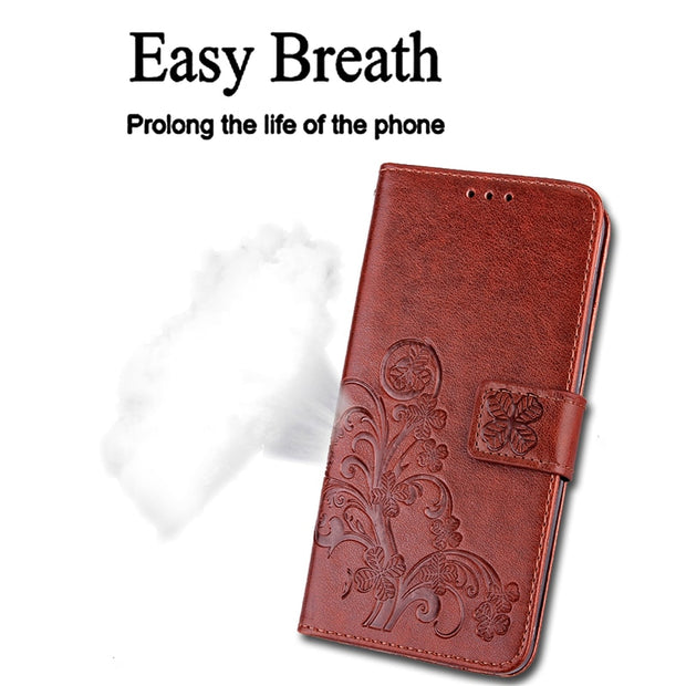 Luxury Leather For Case LG K4 Case Silicone Flip Wallet Phone For LG K4 Lte K120e K130e Embossed Wallet With Stand Card Holder