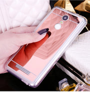 Luxury Mirror Effect Phone Case For Xiaomi Redmi Note 2 3 4 Soft TPU Protective Back Cover For Xiaomi Redmi Note 3 4 2 Shell