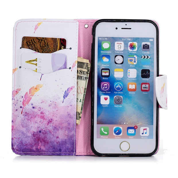 Luxury Shockproof Cover For IPhone 6 Case IPhone 6s Magnetic Flip Wallet Cards Slots PU Leather Housing Hoesjes For IPone 6 Case