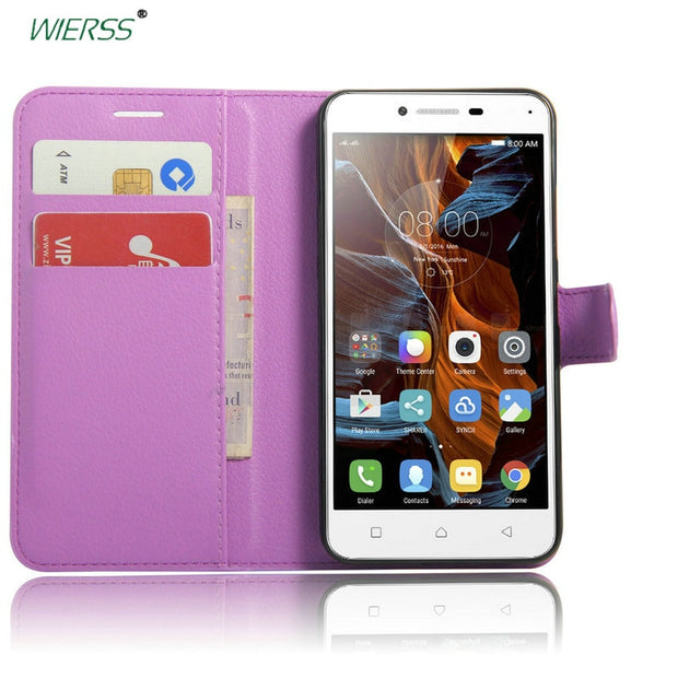 newest de135 6960a Luxury Wallet Flip Leather Case For Lenovo Vibe K5 A6020 A6020a40 ...