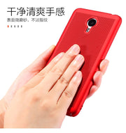 Luxury Case For Meizu M3 Note M5S Hard PC Dissipate Heat Mesh Slim Coque Protective Back Cover For Meizu M5 Note M5s Mini Shell