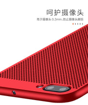Luxury Case For OnePlus 5 Hard PC Dissipate Heat Mesh Slim Coque Protective Back Cover For One Plus 5 Oneplus5 Shell Full Cover