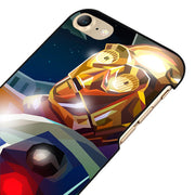 LvheCn 5 5S SE Phone Cover Cases For Iphone 6 6S 7 8 Plus X Back Skin Shell STAR WARS ROBOTS ART