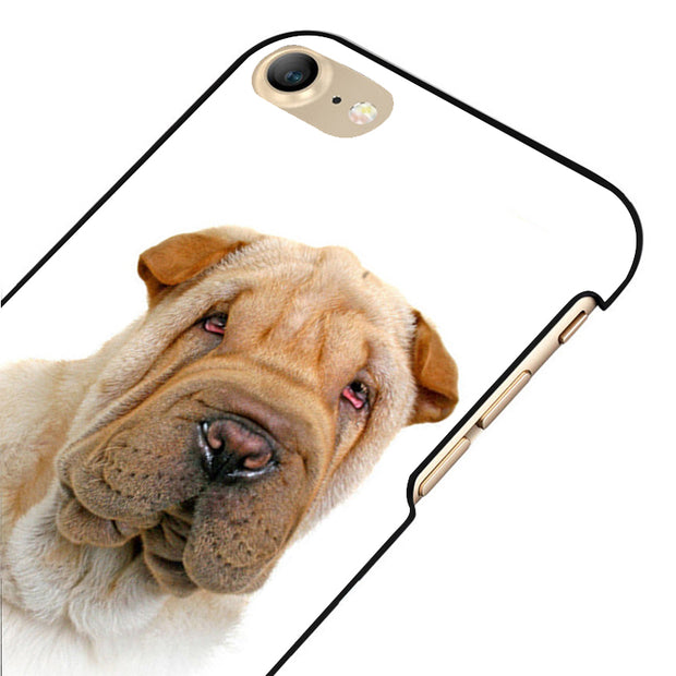 LvheCn 5 5S SE Phone Cover Cases For Iphone 6 6S 7 8 Plus X Back Skin Shell Shar Pei Dog