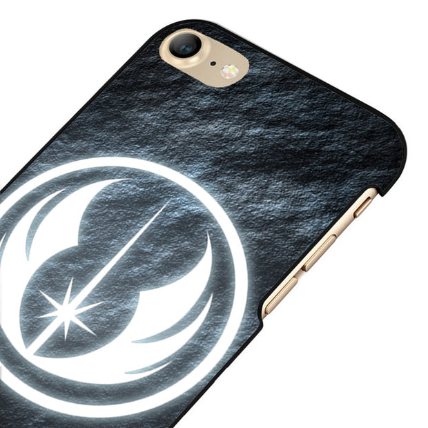 LvheCn 5 5S SE Phone Cover Cases For Iphone 6 6S 7 8 Plus X Back Skin Shell Star Wars Glowing Symbol