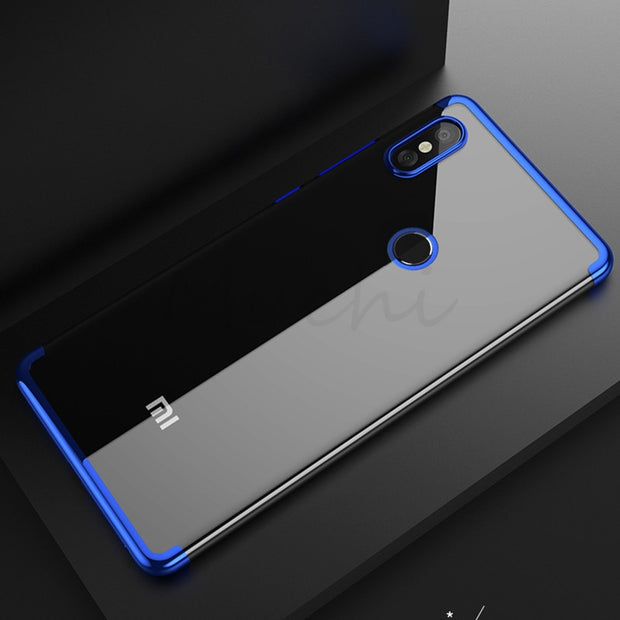 MUCHI For Xiaomi Mi 8 Case Luxury Laser Plating Soft Clear Back Cover For Xiaomi Mi8 SE Mi 8 SE MI8SE Phone Cases