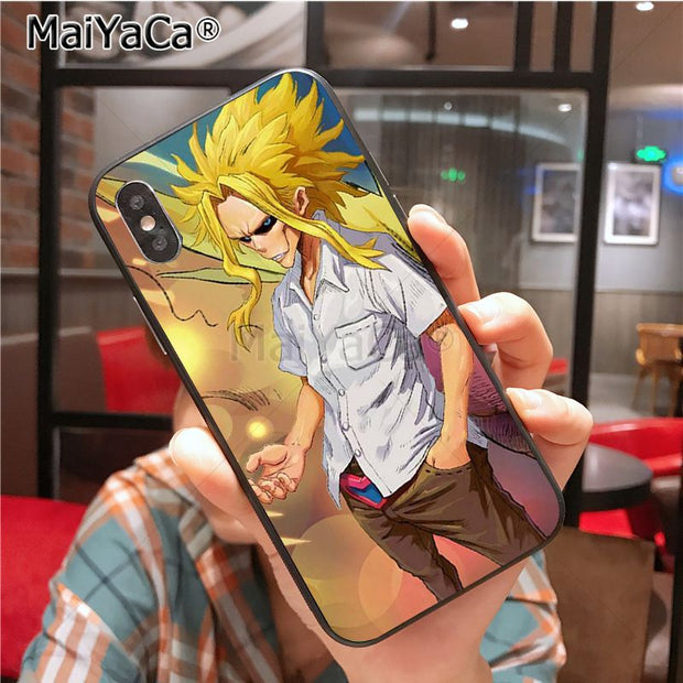 MaiYaCa All Might Diy Cell Phone Protective Case For IPhone X XS XR XS MAX 8plus 7 6splus 5s Se 5c 7plus Case Cover