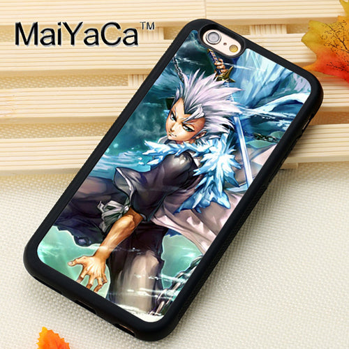 MaiYaCa BLEACH MANGA ANIME GOTEI CAPTAINS Soft Rubber Skin Phone Cases Bags  For IPhone 6S 7 8 Plus X XR XS MAX 5S SE Back Cover