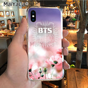 MaiYaCa BTS Band Bangtan Boys Unique Design High Quality Phone Case For IPhone X XS MAX XR 6S Plus 5S 7 8PLUS Case Cover