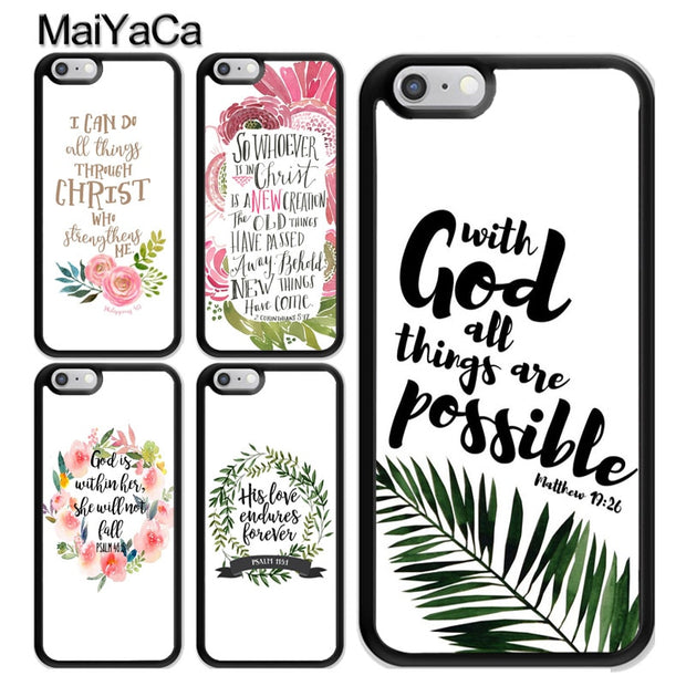 1e40a0ff4d MaiYaCa Bible Qutoes Verse Belief God Jesus TPU Case For IPhone 5S SE 6 6S  7 8 Plus XS MAX X XR Rubber Phone Back Cover Shell
