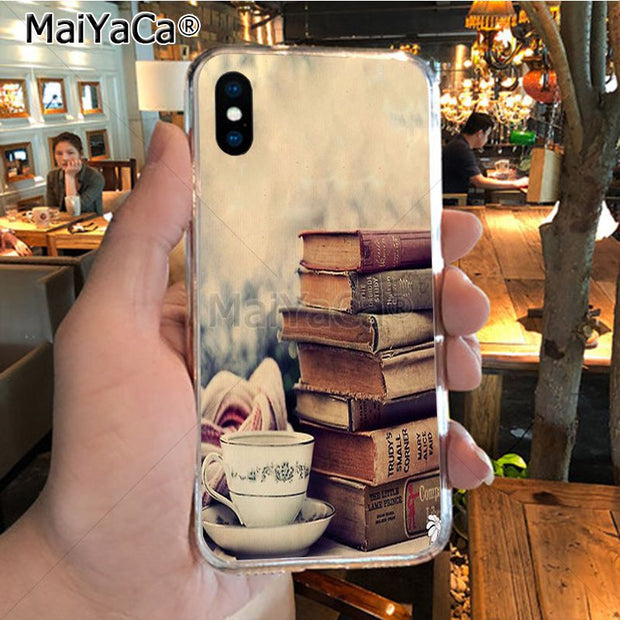 MaiYaCa Books And Coffee Inverted Mck Print High Quality