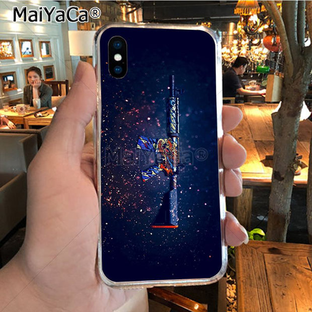 MaiYaCa CSGO Firearms Ultra Thin Cartoon Pattern Phone Case For IPhone X XS MAX XR 6S Plus 5S 7 8PLUS Case Cover