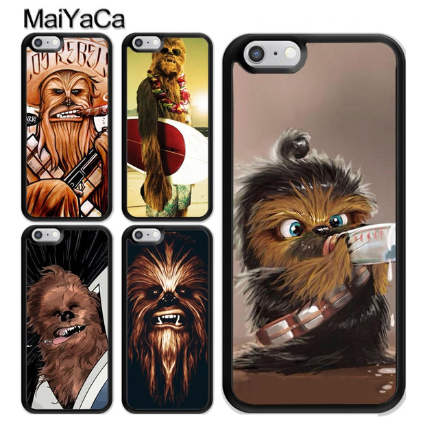 newest 2d26a 9394f MaiYaCa Chewbacca Baby Star Wars Phone Case For IPhone X XR XS MAX 8 7 6  Plus Cover For Iphone 6 6s Cases 5 5s SE Phone Bag Capa