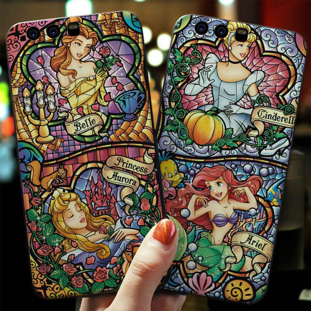 MaiYaCa Cinderella Stained Phone Back TPU Cover Case For Huawei P20 P20pro P20 Lite 6.39''mate 20Pro P9 V9 V10