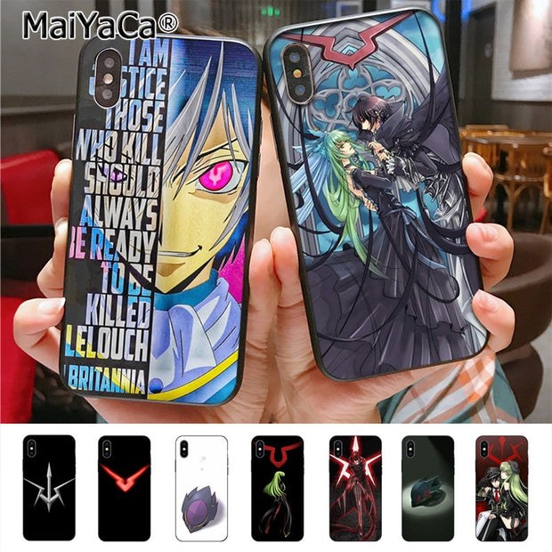 MaiYaCa Code Geass Lelouch Painted Cover Style Design Phone Case For IPhone X XS XR XS MAX 8plus 7 6splus 5s Se 5c 7plus Case