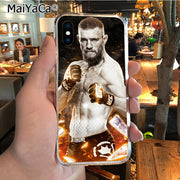 MaiYaCa Conor McGregor Irish Fighter New Personalized Phone Accessories Case For IPhone X XS MAX XR 6S Plus 5S 7 8PLUS Case