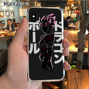 MaiYaCa Dragon Ball Goku 2018 Colored Drawing Soft Tpu Phone Case For IPhone X XS MAX 5 6SPLUS 7 8plus Case Coque Funda