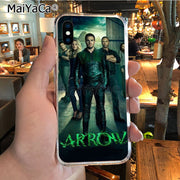MaiYaCa Green Arrow Man Movie Special Offer Luxury Vertical Phone Case For IPhone X XS MAX 5 6SPLUS 7 8plus Case Coque Funda