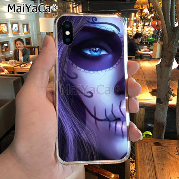MaiYaCa Grim Reaper Skull Skeleton Newest Super Cute Phone Cases For IPhone X XS MAX 5 6SPLUS 7 8plus Case Coque Funda