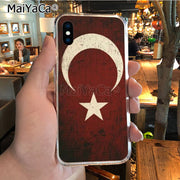 MaiYaCa Grunge Turkey Flag 2018 Colored Drawing Soft Tpu Phone Case For IPhone X XS MAX 5 6SPLUS 7 8plus Case Coque Funda