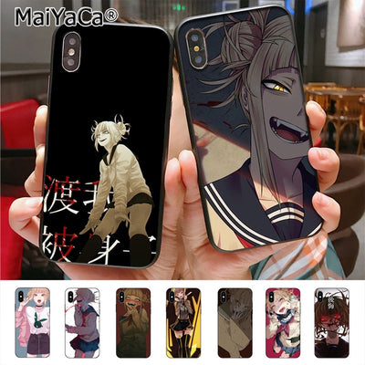 MaiYaCa Himiko Toga Luxury TPU Rubber Phone Case Cover For IPhone X XS XR XS MAX 8plus 7 6splus Se 5c 7plus Case Cover