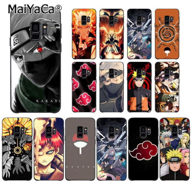 best loved d5746 286e1 MaiYaCa Hokage Naruto Kakashi Japanese Anime Phone Case For Samsung Galaxy  S9 Plus S7 Edge S6 Edge Plus S5 S8 Plus Case