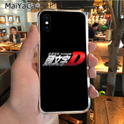 MaiYaCa INITIAL D 2018 Colored Drawing Soft Tpu Phone Case For IPhone 8 7 6 6S Plus X XR XS MAX 5S SEcase Shell