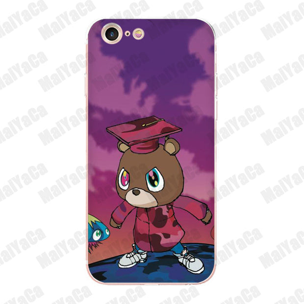 MaiYaCa Kanye West Graduation Bear Top Detailed soft Phone case for iPhone 8 7 6 6S 5ac134ab 6378 496d ad2d