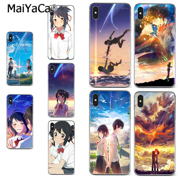 Maiyaca Kiminonawa Your Name Japanese Anime Lovely Soft Tpu Phone Accessories Case For Iphone X Xs Max 5 6splus 7 8plus Case